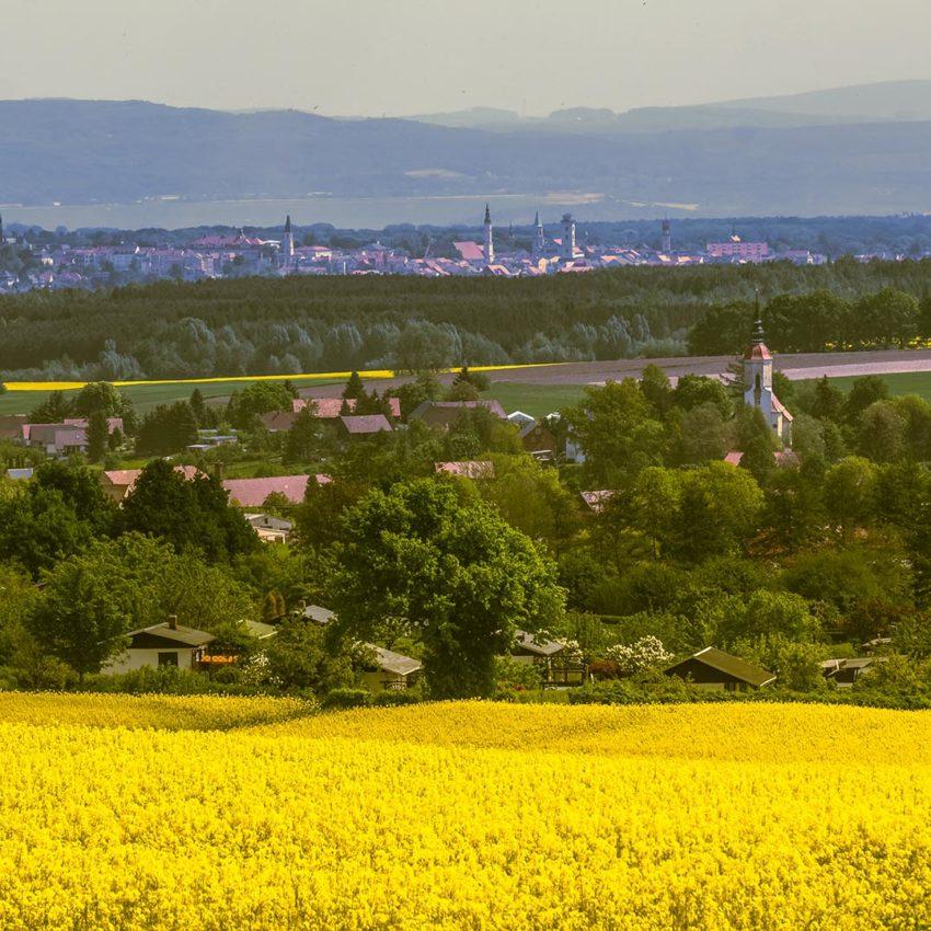 Blick über Bertsdorf-Hörnitz nach Zittau