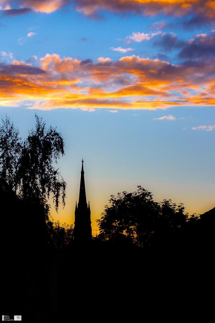 Abendrot über der Marienkirche