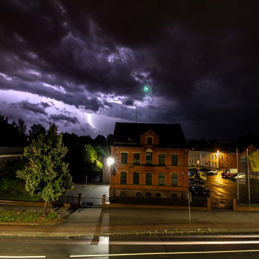 Gewitter über Zittau