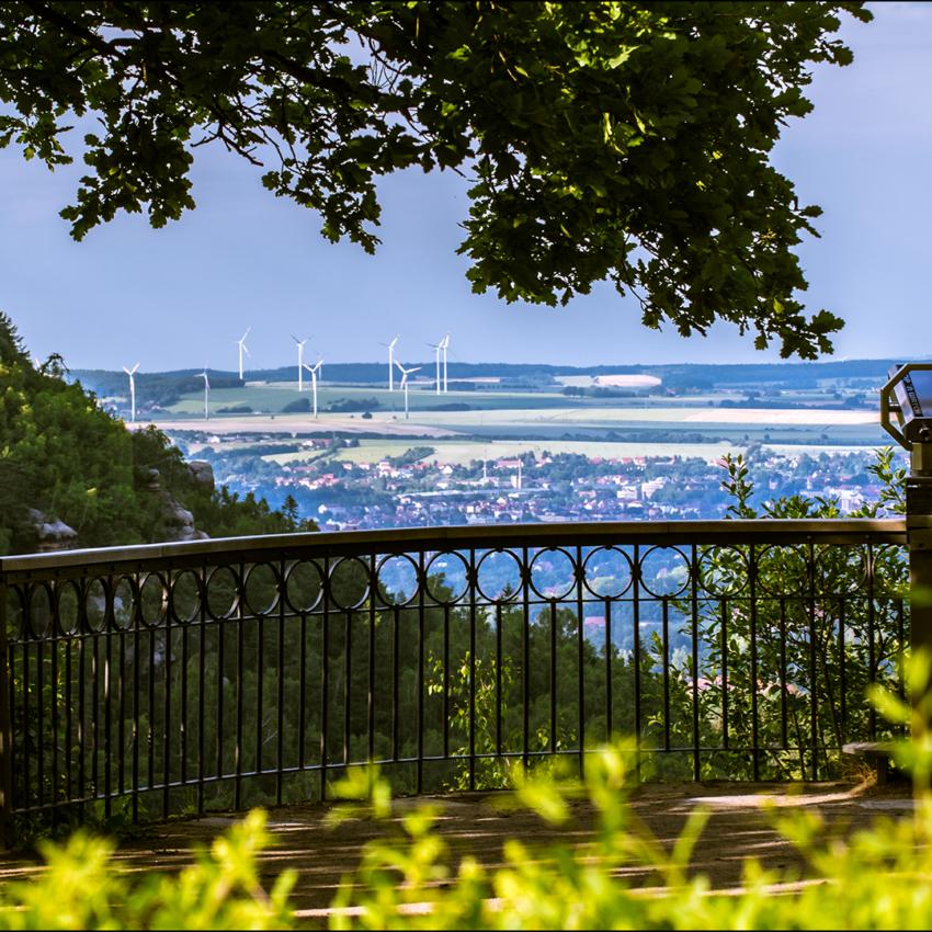 Blick vom Berg Oybin nach Oberseifersdorf / Zittau
