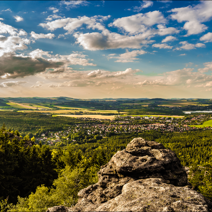 Blick vom Töpfer nach Olbersdorf