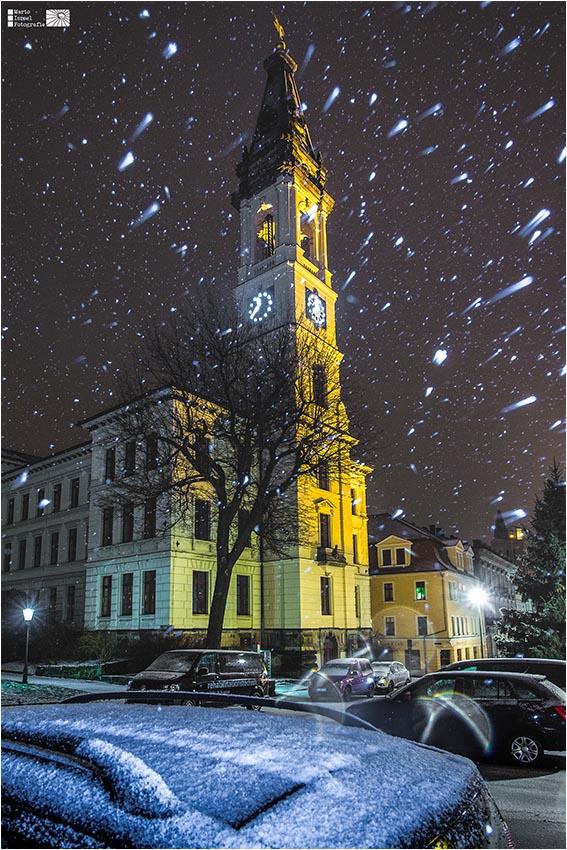 Schneetreiben am Haberkornplatz