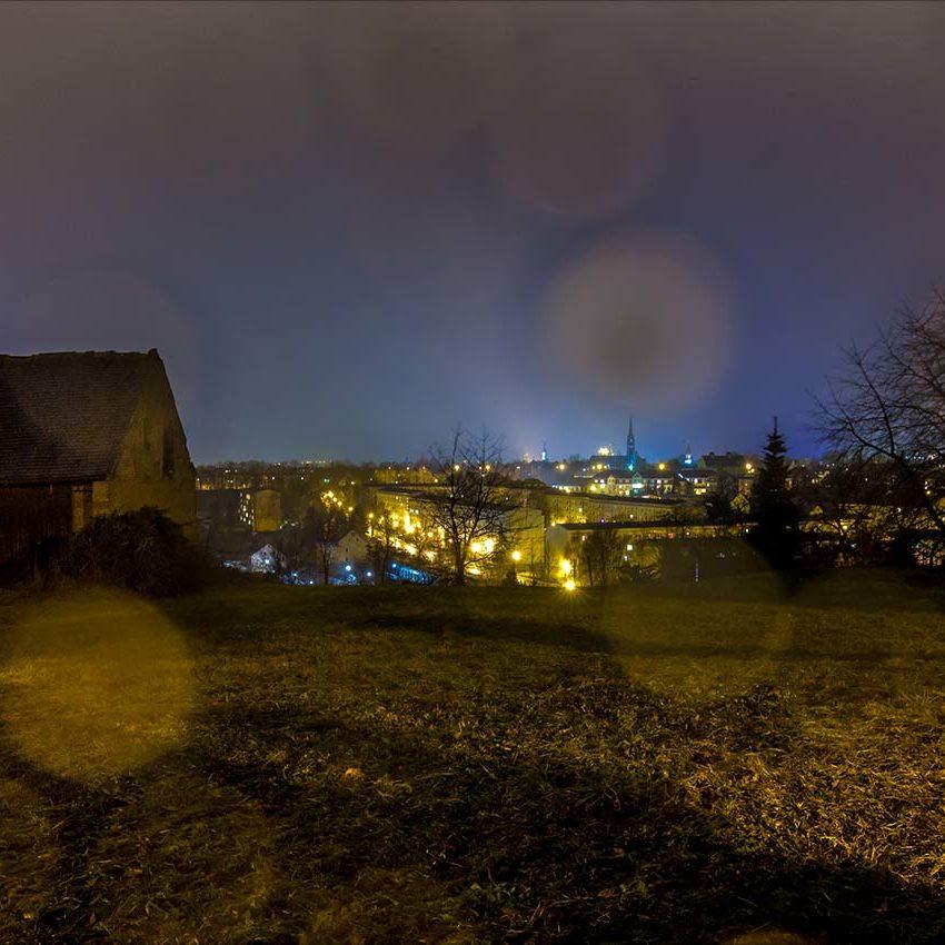 Regennasser Blick von Eckartsberg nach Zittau
