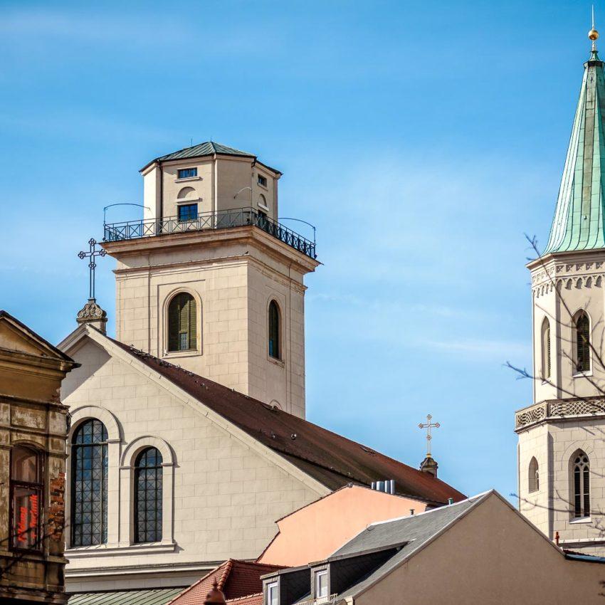 FrühlingsSonne auf den Türmen der Johanniskirche